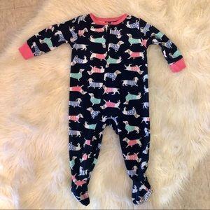 [Carter's] Wiener dog pajama LongSleeve Onesie 12M